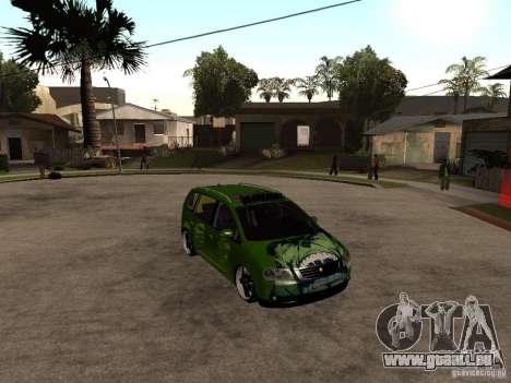 Volkswagen Touran The Hulk pour GTA San Andreas vue de droite
