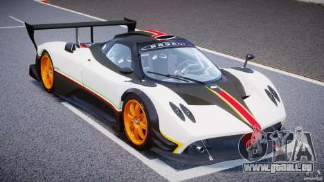 Pagani Zonda R 2009 Italian Stripes für GTA 4 Rückansicht