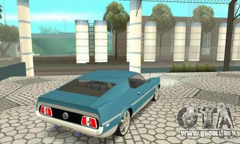Ford Mustang Mach 1 1971 pour GTA San Andreas laissé vue