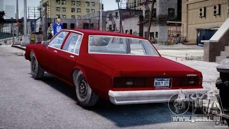 Chevrolet Impala 1983 v2.0 pour GTA 4 Vue arrière de la gauche