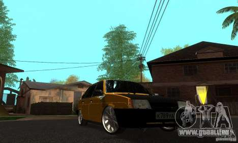 VAZ 2109 léger Tuning pour GTA San Andreas vue arrière