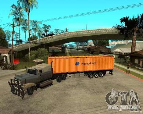 Krone Trailer Hapag-LLoyd pour GTA San Andreas laissé vue