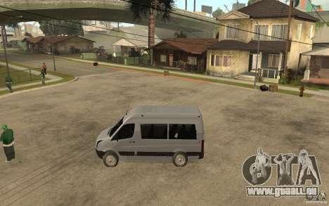Volkswagen Crafter school bus pour GTA San Andreas laissé vue
