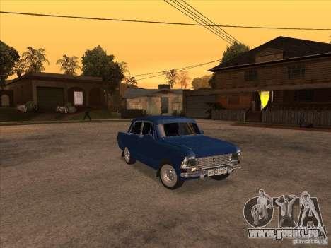 Moskvitch 412 pour GTA San Andreas laissé vue
