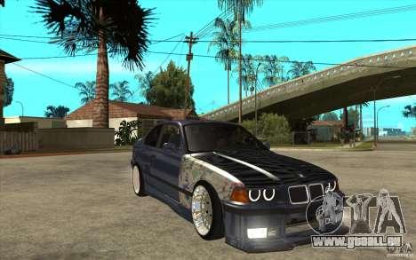 BMW E36 M3 Street Drift Edition pour GTA San Andreas vue arrière