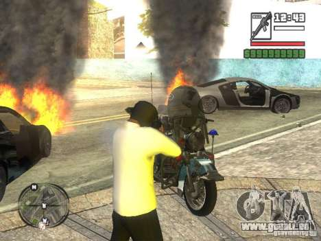 Black Helmet für GTA San Andreas dritten Screenshot