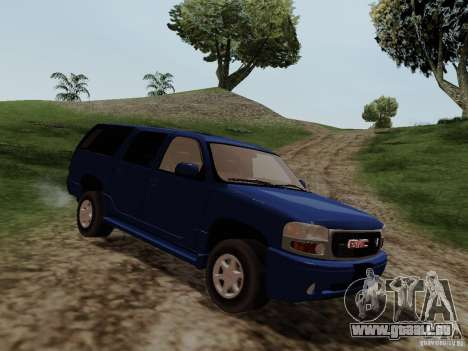 GMC Yukon Denali XL für GTA San Andreas zurück linke Ansicht