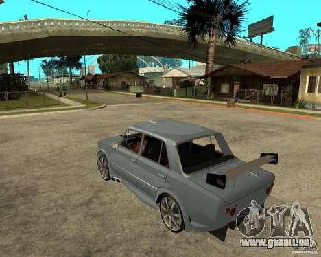 VAZ 2101 voiture TUNING par ANRI pour GTA San Andreas laissé vue