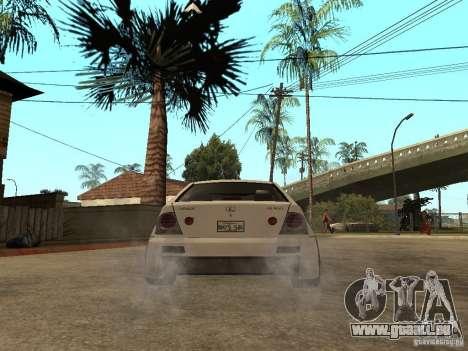 Lexus IS300 NFS Carbon pour GTA San Andreas sur la vue arrière gauche