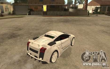 Lamborghini Gallardo MW für GTA San Andreas rechten Ansicht