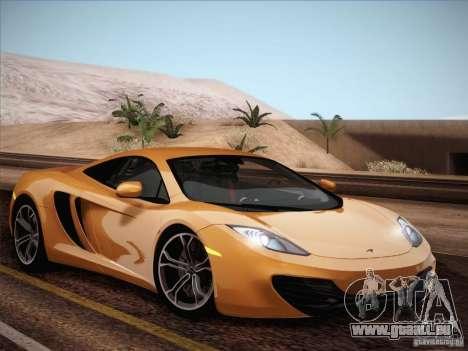 McLaren MP4-12C BETA für GTA San Andreas obere Ansicht