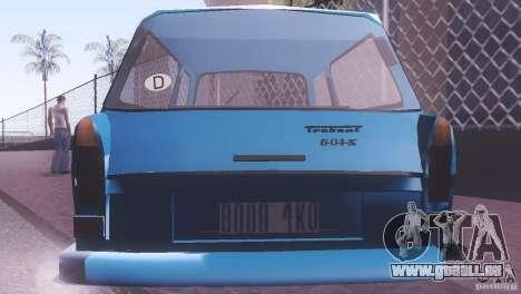 Trabant 601S pour GTA San Andreas vue de droite