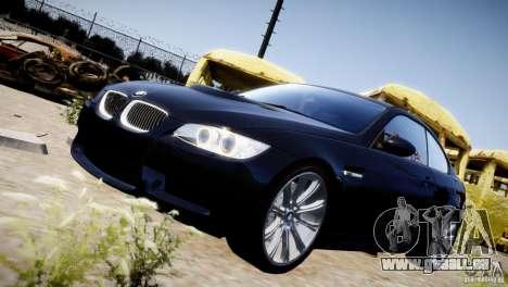 BMW M3 E92 pour GTA 4 vue de dessus
