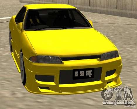 Nissan Skyline R32 Bee R pour GTA San Andreas vue arrière