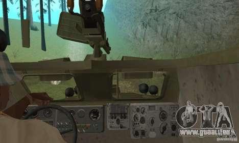 BRDM-1 Haut 3 für GTA San Andreas Innenansicht