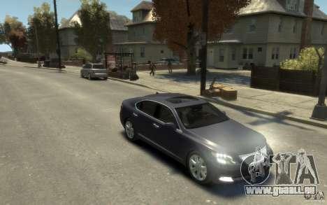 Lexus LS 600h L v1.1 für GTA 4 Rückansicht