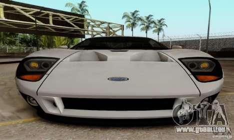 Ford GT 2005 für GTA San Andreas Innenansicht