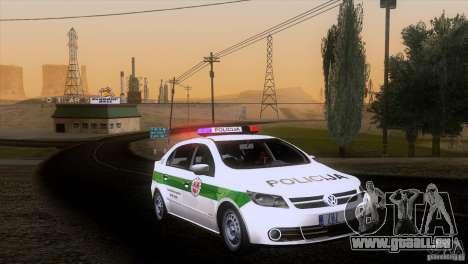 Volkswagen Voyage Policija pour GTA San Andreas sur la vue arrière gauche