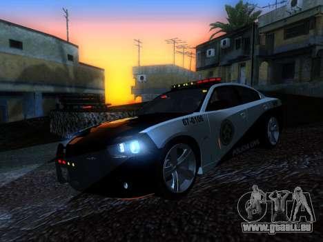 Dodge Charger SRT8 Police für GTA San Andreas Rückansicht