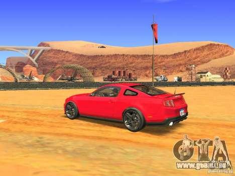 Ford Shelby GT500 für GTA San Andreas zurück linke Ansicht