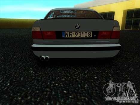 BMW 5 series E34 pour GTA San Andreas vue de droite