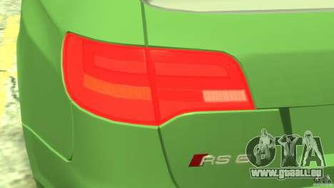 Audi RS6 Avant 2010 Stock für GTA 4 Innenansicht