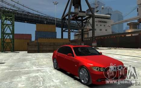 BMW 330i E90 pour GTA 4 Vue arrière
