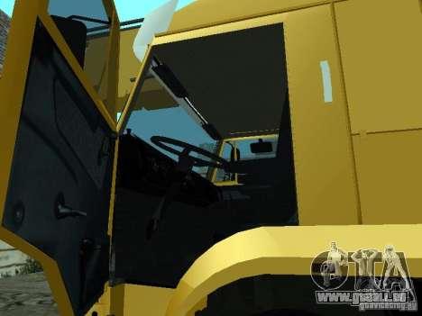 KAMAZ 65117 Ivanovets pour GTA San Andreas vue intérieure