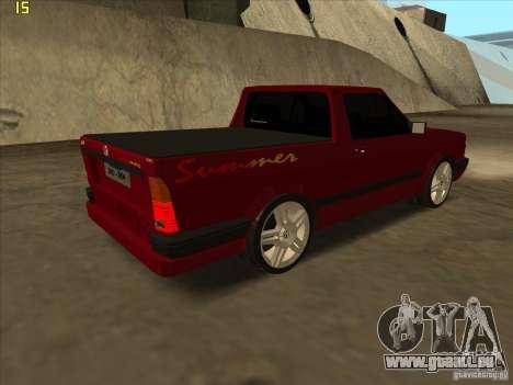 Volkswagen Saveiro Summer pour GTA San Andreas sur la vue arrière gauche