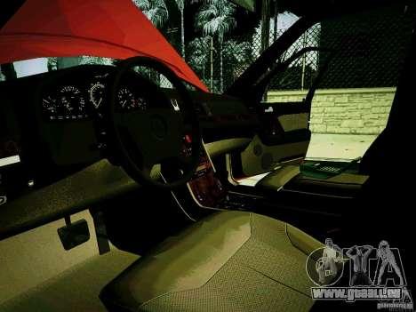 Mercedes-Benz S-Class W140 für GTA San Andreas Rückansicht