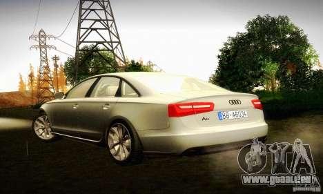 Audi A6 2012 pour GTA San Andreas laissé vue
