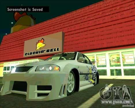 Nissan Sentra pour GTA San Andreas vue de droite