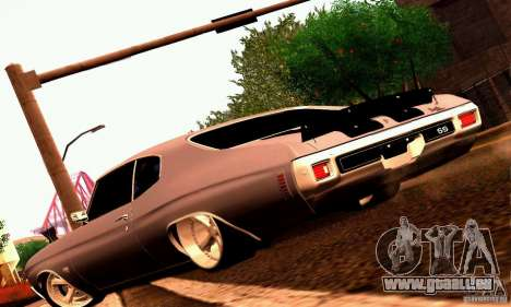 Chevrolet Chevelle 1970 pour GTA San Andreas moteur