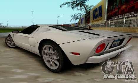 Ford GT 2005 pour GTA San Andreas laissé vue