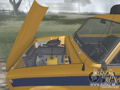 POLICE DE LA CIRCULATION VAZ 21016 pour GTA San Andreas vue intérieure