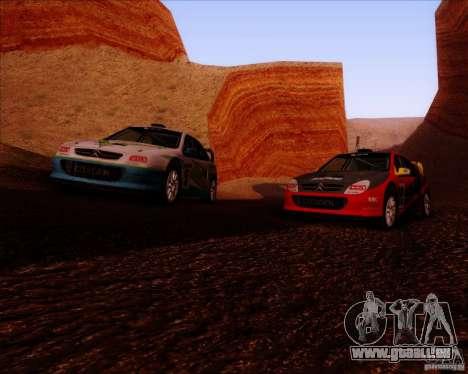 Citroen Xsara 4x4 T16 für GTA San Andreas Innenansicht