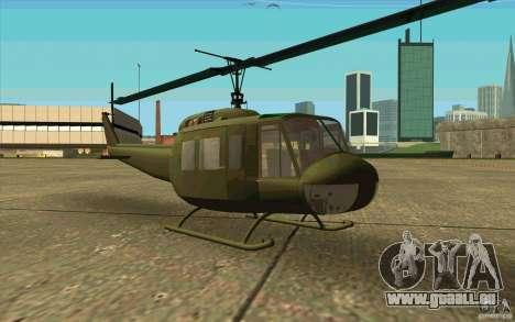 UH-1D Slick pour GTA San Andreas laissé vue