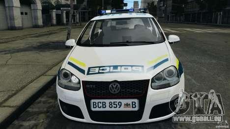 Volkswagen Golf 5 GTI South African Police [ELS] pour GTA 4 est un côté