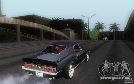 Shelby GT500KR pour GTA San Andreas vue de droite
