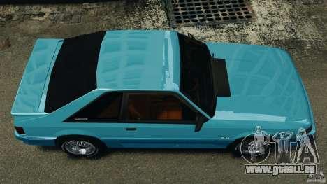 Ford Mustang GT 1993 v1.1 pour GTA 4 est un droit