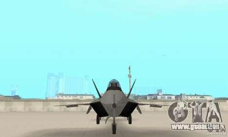 Y-f22 Lightning pour GTA San Andreas vue intérieure