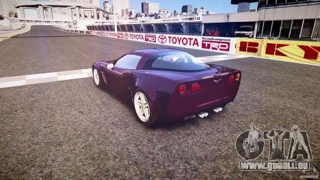 Chevrolet Corvette C6 Z06 pour GTA 4 est un côté