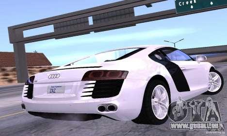 Audi R8 4.2 FSI pour GTA San Andreas laissé vue