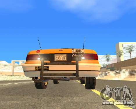 Taxi from GTAIV pour GTA San Andreas vue arrière