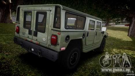 Hummer H1 Original für GTA 4 obere Ansicht