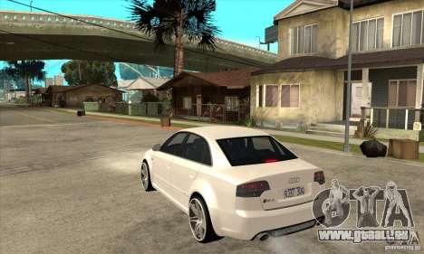 Audi RS4 2006 v2 für GTA San Andreas zurück linke Ansicht