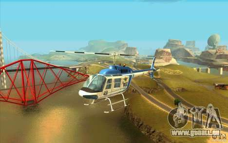 Bell 206 B Police texture1 pour GTA San Andreas