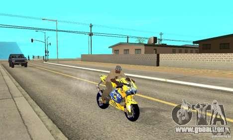 Honda Valentino Rossi Bf400 pour GTA San Andreas vue de droite