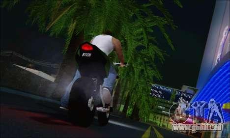 Honda CB600F Hornet 2012 pour GTA San Andreas sur la vue arrière gauche