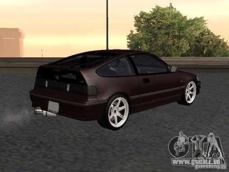 Honda Civic CRX JDM pour GTA San Andreas sur la vue arrière gauche